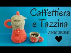 Caffettiera e Tazzina AMIGURUMI - Crochet Coffeepot & Small Cup (Eng Sub) - YouTube Crochet Food, Knit Crochet, Crochet Hats, Crochet For Boys, Crochet Videos, Canvas Patterns, Doll Clothes, Crochet Earrings, Crochet Patterns