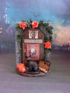 Halloween. Desktop composition. Dollhouse. Scale 1:12