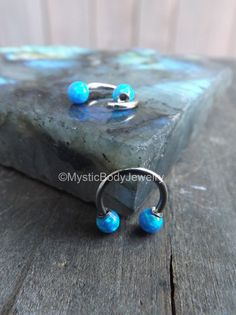 $27.95 16g Opal Septum Nose Ring 5/16 Daith Piercing by MysticBodyJewelry