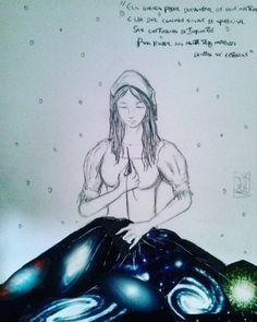 """Costureira de Infinitos  Baseado em uma poesia de Yug Werneck.  """" Ela queria poder desvendar os seus mistérios / E lhe dar caminhos suaves de apreciar / Ser costureira de infinitos / Para fazer sua mente ter morada dentre as estrelas. """""""