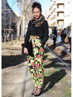 Streetstyle prints @ Milaan