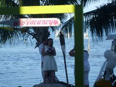 Just Married! Beach Wedding! Kokomo Beach - Caye Caulker, Belize  www.kokomobeachsuites.com