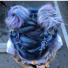 Love both the color and style. 💙💜 See this Instagram photo by @hairgod_zito • 2,092 likes