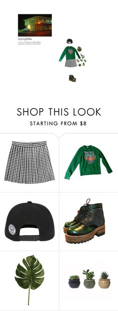 """""""Moss"""" by cafe-latte ❤ liked on Polyvore featuring Monki, Kenzo, Nana' and Linea"""
