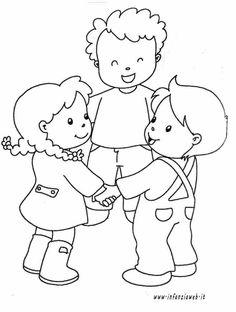 Happy children's day coloring pages - free printable ⋆ بالعربي نتعلم Camping Coloring Pages, Coloring Pages For Kids, Craft Activities For Kids, Kindergarten Activities, Emotions Preschool, Fathers Day Coloring Page, Friendship Activities, Kindergarten Coloring Pages, Happy Children's Day