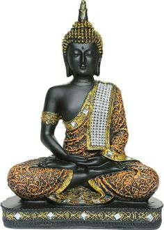 Fengshui Thai lord Buddha Handcrafted Meditating Polyresin Buddha Home/office/table decor idol/Buddha Statue/Figurine/Sculpture Indian - Buda Buddha Meditation, Buddha Idol, Buddha Gifts, Om Art, Home Office Table, Office Decor, Sitting Buddha, Buddha Decor, Buddha Sculpture