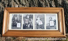 Each child holds a letter of the word LOVE. Gift for Grandma!