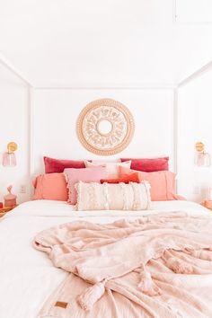 Home Decor Bedroom pink bedroom ideas teenager bedroom design girly bedroom ideas light bedroom.Home Decor Bedroom pink bedroom ideas teenager bedroom design girly bedroom ideas light bedroom Bohemian Bedroom Decor, Home Decor Bedroom, Bedroom Furniture, Bedroom Ideas, Bedroom Designs, Bedroom Apartment, Diy Bedroom, Budget Bedroom, Bedroom Rustic