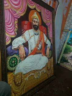Shivaji Maharaj Hd Wallpaper, Lion Wallpaper, Great King, Freedom Fighters, Religion, Jay, Paintings, Alphabet, Paint