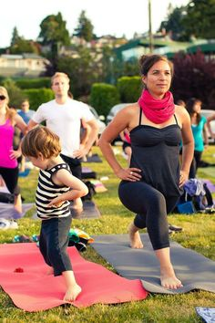 Your actions can inspire others. - yoga, motherhood, mother, child