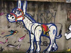 happy donkey (Turnpike Lane graffiti) London Photos, Donkey, Donald Duck, Graffiti, Disney Characters, Fictional Characters, Street Art, Happy, Fantasy Characters