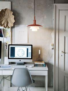 Home Office e Luminária Pendente