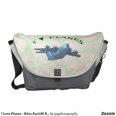 I Love Planes - Atlas A400M Aircraft Courier Bag #avgeek #aircraft #travel #gifts