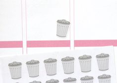 HM09  Trash Can Bin Planner Stickers Perfect for by PopFizzPaper