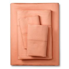 Elite Home Hemstitch 400TC Solid Sheet Set - Coral (Pink) (California King)