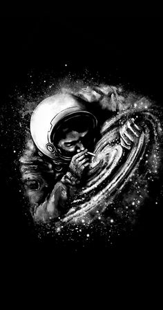 High by the cosmos 🙏 Space Artwork, Space Drawings, Dark Art Drawings, Wallpaper Space, Arte Emo, Astronaut Wallpaper, Catwoman Comic, Rick And Morty Poster, Aesthetic Space