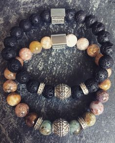 The beauty and the beast. verroni The Rock & Vintage Garden handcrafted premium bracelets Beauty And The Beast, Beaded Bracelets, Mens Fashion, Rock, Garden, Accessories, Vintage, Jewelry, Man Fashion