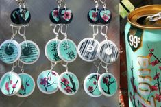 Homemade recycled jewelry! Fun and easy way to get creative and reuse materials that would otherwise end up in a landfill