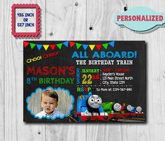 Thomas Train Invitation / Thomas Train Birthday Invitation /