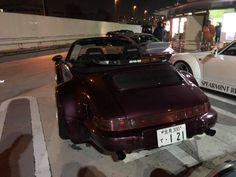 RWB at Tarumi parking Rauh Welt, Porsche, Japan, Cars, Autos, Car, Automobile, Porch, Japanese