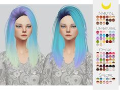 The Sims Resource: LeahLillith`s Pretty Thoughts hair retextured by kalewa-a - Sims 4 Hairs - http://sims4hairs.com/the-sims-resource-leahlilliths-pretty-thoughts-hair-retextured-by-kalewa-a/
