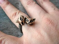 2 Cats ring #jewelry