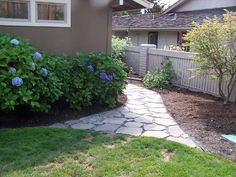 ~ Looking at different, but simple enough, walk paths using flagstone ~