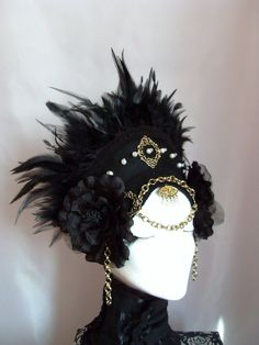 Goth Renaissance Headdress  *Noir Queen*