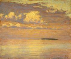 "Sunrise, Trout Island oil on canvas   10 x 12""   2001 Rick Stevens Art"