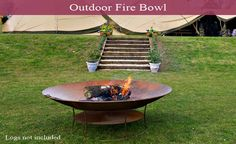 Outdoor fire bowl by Holmsted Events (Tipi Hire)