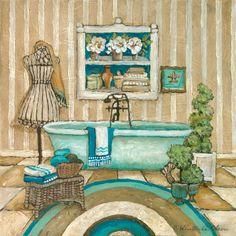 Art Print: My Inspiration Bath Wall Art by Charlene Olson by Charlene Winter Olson :
