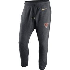Chicago Bears Nike Championship Drive Gold Collection Hybrid Fleece Sweatpants - Charcoal