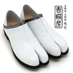SOU・SOU傾衣×吉靴房 踵単皮(あくとたび)/胡粉色(こふんいろ)