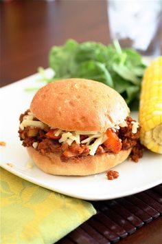 Vegetarian summer squash sloppy joes.. i think i would use barbecue sauce instead of tomato sauce, though.