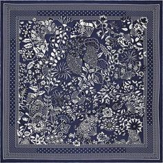 La Maison des Carrés Hermès   Fleurs et Papillons de Tissus Fleurs Et  Papillons, Carré ff85c2c4900