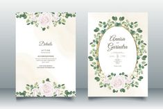 Beautiful Wedding Invitation Card Graphic by nurincedominggas979 · Creative Fabrica Wedding Stationery Sets, Wedding Logos, Beautiful Wedding Invitations, Wedding Cards, Wedding Invitation Card Template, Flower Invitation, Save The Date Invitations, Leaf Template, Floral Wedding