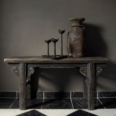 Antique Pieces & Iron Candleholders