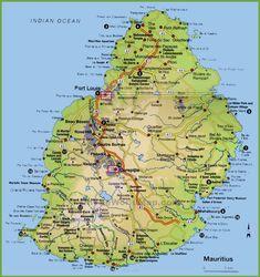 Mauritius Hospitals and Clinics Map Mauritius Maps