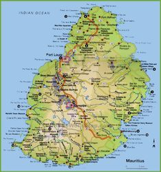 83 Best Mauritius maps images