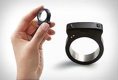 Wo ist di Fernbedienung? Mit diesem Ring immer am Finger zu finden.