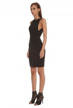 Nytro Cutaway Mini Dress in Black. Shop online at AQAQ.com