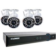 LOREX LH03081TC4W ECO Black Box 960H 8-Channel Stratus DVR with 4 Wireless Cameras