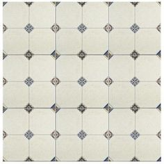 Merola Tile Manises Jet Blanco 13-1/8 in. x 13-1/8 in. Ceramic Wall and Floor Tile (10.76 sq. ft. / case)-FEM13MNB - The Home Depot