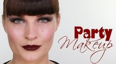 PARTY VAMP MAKE-UP & TOP KNOT HAIR STYLE, via YouTube.