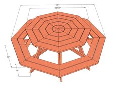 picnic table plans | ... Octagon Picnic Table | Free and Easy DIY Project and Furniture Plans