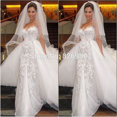 Real Pictures Luxury Mermaid Lace Wedding Dress With Detachable Train Country Western Wedding Gown Vestido De Noiva Send Veil