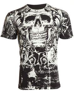 Archaic AFFLICTION Mens T-Shirt KILLROY Skull Tattoo Biker Gym MMA UFC M-4XL $40 #Affliction #GraphicTee