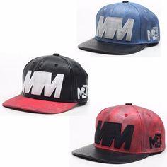 Vintage-Washed-Design-Snapback-Hat-Faux-Leather-Street-Fashion-Cap-HWH2