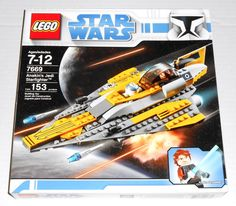 LEGO Star Wars 7669 Anakin's Jedi Starfighter New SEALED 153 Pieces Retired Set  #LEGO