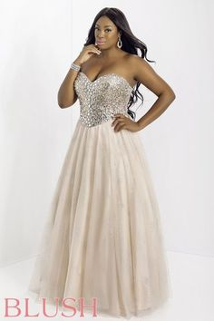 Plus Size Champagne Blush Prom Dresses and Evening Gowns Blush 2015 Style 9932 Peach Prom Dresses, Best Prom Dresses, Prom Party Dresses, Bridesmaid Dresses, Formal Dresses, Prom Gowns, Formal Wear, Wedding Dresses, Prom Night Dress